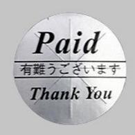 thank youシール